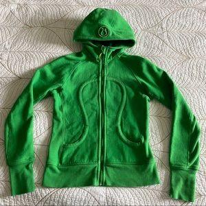 LULULEMON Bright Green Scuba Hoodie Size 6